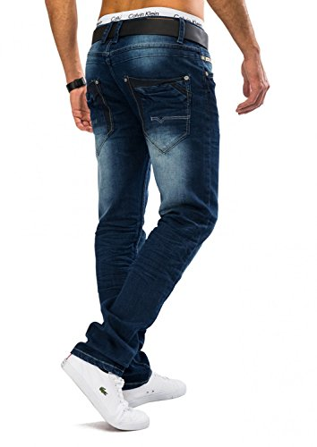 Herren Stone Washed Jeans CLASSIC Nr.1558 Slim Fit Stretch Blau