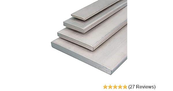 V2A Edelstahl Flachstahl Oberfl/äche blank L/änge 2000 mm Abmessungen 100 x 6 mm