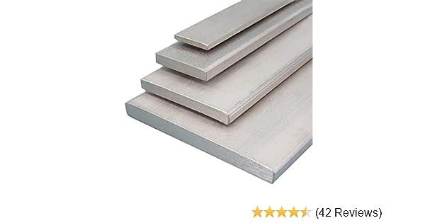 L/änge 2000 mm Abmessungen 100 x 8 mm Aluminium Flachmaterial Oberfl/äche blank gezogen