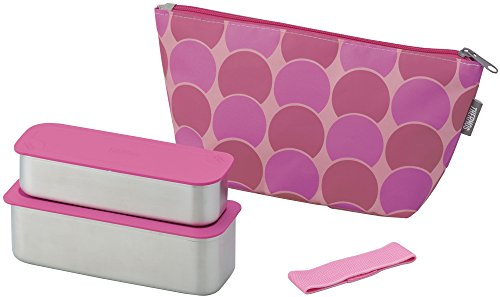 thermos-fresh-lunch-box-2-stage-635ml-pink-dot-dsa-601w-pd-japan-import-by-twr