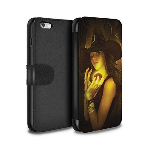Officiel Elena Dudina Coque/Etui/Housse Cuir PU Case/Cover pour Apple iPhone 6S+/Plus / Pack 6pcs Design / Magie Noire Collection Orbe/Sorcellerie