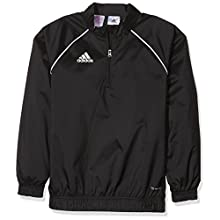 Adidas Kids Core 18 Windbreaker Jacket - Black/White, Size 164