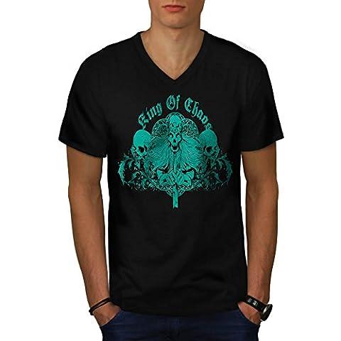 Roi de le chaos Jeu Trône Crâne Homme NOUVEAU Noir T-shirt XXL   Wellcoda