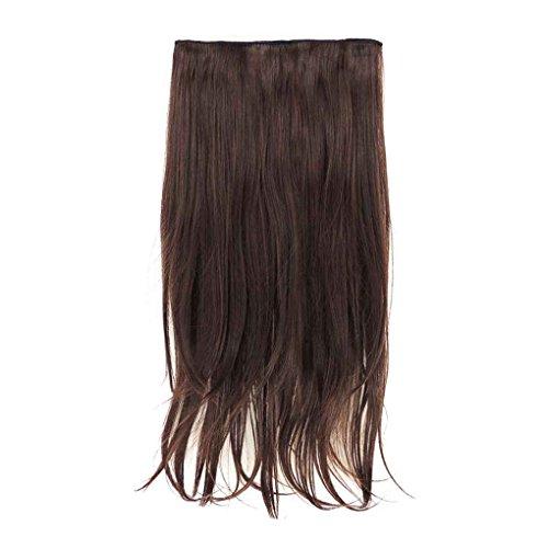 Xuanhemen Mädchen Matte Wavy Bouncy Langes Haar Nahtlose Verlängerung Haar Stück Perücken