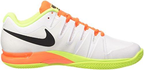 Nike Zoom Vapor 9.5 Tour Clay, Scarpe da Tennis Uomo Multicolore (White/Black Volt Total Orange)