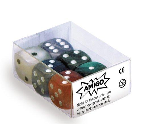 Würfel-Set - Perlmutt W6 (6 Würfel), verschiedene Farben