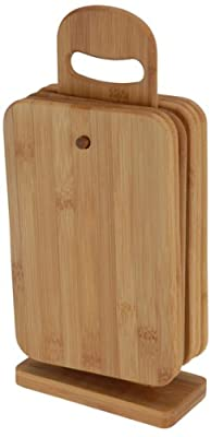 Set of 6 Chopping Boards with Holder By BBTradesales