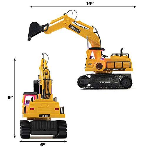 RC Auto kaufen Baufahrzeug Bild 6: New Top Race® 7-Kanal voll funktionsfähiger Bagger, elektrischer Bautraktor mit RC Fernbedienung (TR-111)*