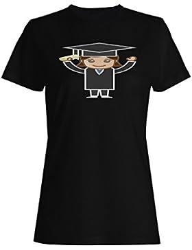 Mujer en graduación vestir graduado camiseta de las mujeres a441f