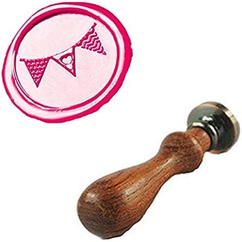 mdlg Bandiera Vintage Cuore Custom Immagine Logo invito di matrimonio di ceralacca sigillo timbro set kit Stamp Only