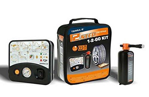Terra-S Reifenpannenset 1-2-Go Kit mit Kompressor Reifen Pannenset