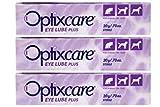 OptixCare 20g Lube Eye Plus + hialurónico para los Caballos Gato del Perro, Pack de 3
