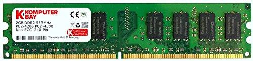 2GB DDR2 533MHz Komputerbay PC2-4200 PC2-4300 (240 PIN) DIMM Desktop-Speicher -