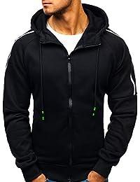 BOLF Herren Kapuzenpullover mit Reißverschluss Baumwollmischung Sweatjacke  Hoodie 1A1 072836d511
