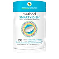 Method Smarty Dish Dishwashing Tablets, Free & Clear, 20 Count (Pack of 6)