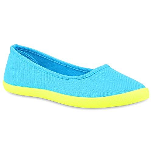 Slip-Ons Damen Glitzer Slipper Metallic Sneakers Freizeit Flats Blau Neongelb