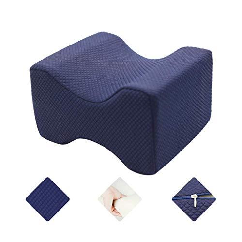 WUHX Orthopädisches Kniekissen, fit Relief Ischias, Hüfte, Rücken, Bein, Knieschmerzen, Seitenschläfer, Schwangerschaft, rechter Rücken - waschbarer Bezug,Blue - Ischias Relief