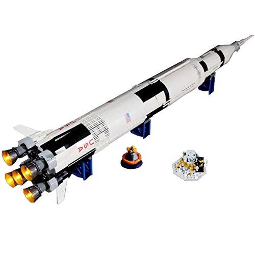Saturn Weihnachtsbeleuchtung.Poxl Set Di Luci Per Nasa Apollo 11 Saturn V Ideas Kit Di Illuminazione Led Luce Led Light Compatibile With Lego 21309 Non Includere Il Set Lego