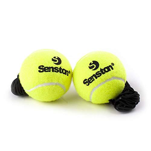 Senston 2pcs Tennis Balls Gelb Training Tennisbälle Ausbildung Tennisball mit Linie Practice Ball Outdoor Sports Spielzeug Tennis Ball für Haustiere Hunde Katze