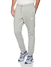 Nike M Nsw Club Jggr Bb Pantalones, Hombre, Gris (DK Grey Heather) / Blanco, S