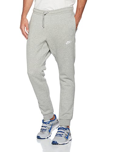 Nike Herren Jogger Fleece Club Trainingshose, Grau, M