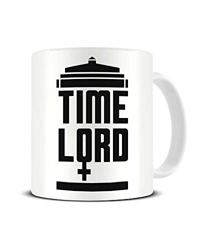 Funky NE Ltd Keramik-Kaffeetasse mit Aufschrift Female Time Lord - 13. Dr. Who - Dr. Who Fan -...