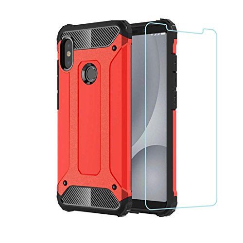 DESCHE Funda Xiaomi Redmi Note 5 Hard PC Soft TPU