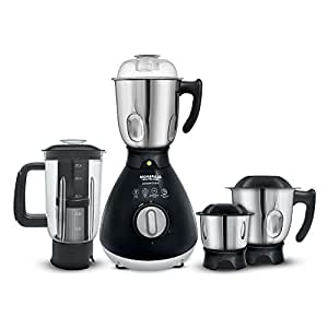 Maharaja Whiteline Powerclick + MX- 170 750-Watt Mixer Grinder with 4 Jars (Black)