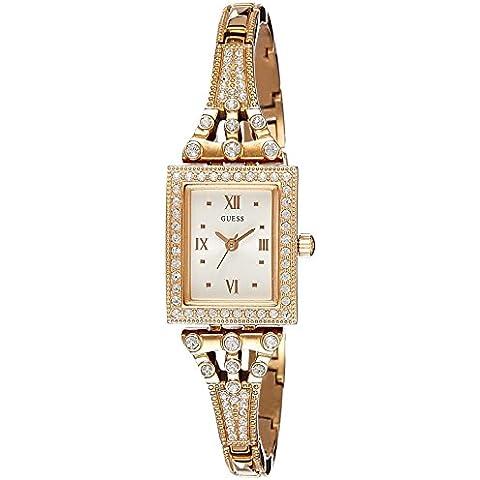 Guess - Reloj de cuarzo para mujer, correa de acero inoxidable, oro rosa
