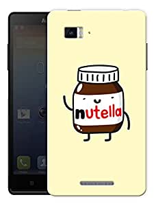 "Humor Gang I Love Nutella Printed Designer Mobile Back Cover For ""Lenovo Vibe P1"" (3D, Matte Finish, Premium Quality, Protective Snap On Slim Hard Phone Case, Multi Color)"
