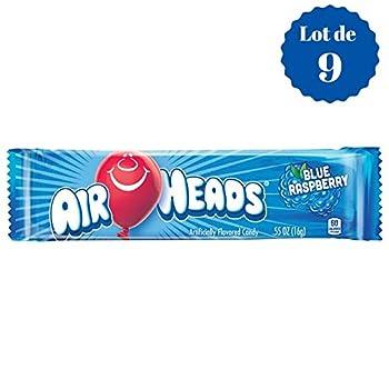 Airheads Blue Raspberry - Framboise Bleue - Confiseries Américaines Fruitées - Lot de 9 Bonbons de 16 g  e  9
