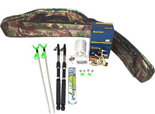 TMD-Line Angel Set komplett Zander Grundangeln mit Angel-Tasche