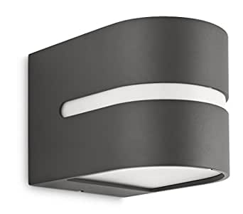 philips luminaire ext rieur applique murale hazel anthracite luminaires et eclairage. Black Bedroom Furniture Sets. Home Design Ideas