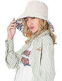 SIYWINA Cappello da Sole Cappelli da Donna Tesa Largo di Cotone Cappellino  da Spiaggia e98e2a6be82f