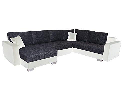 Inter Sofa Street schwarz U-Form Schlafsofa Ecksofa