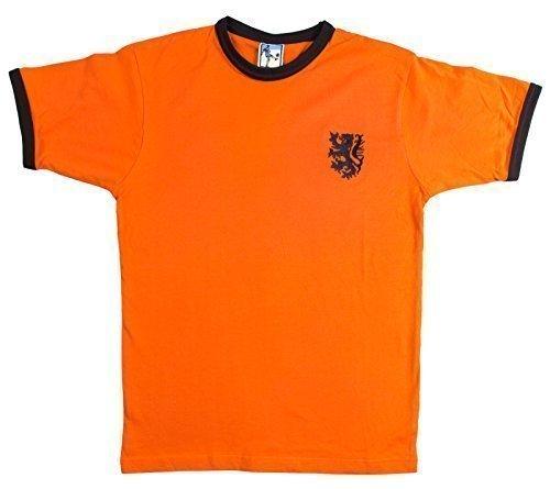 Retro Holland 70er jahre Fußball T-Shirt Neu Größen S-XXL Gesticktes Logo - ()