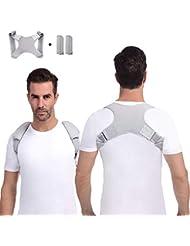 Anoopsyche Haltungskorrektur Geradehalter zur Haltungskorrektur Rückenstütze Rückenbandage Haltungstrainer Rücken Damen und Herren-Größenverstellbar (mit 2 Schulterpolster)