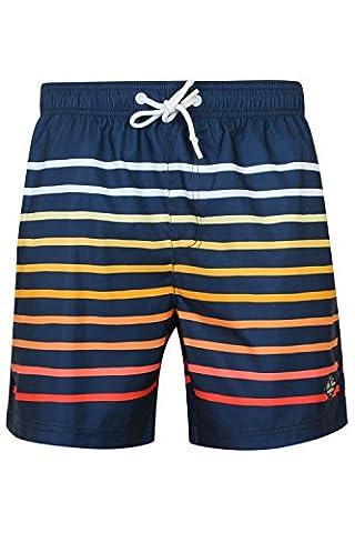 South Shore Mens Freemason Striped Swimming Shorts - Midnight Blue - XX Large