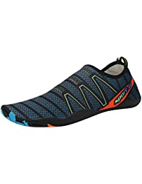 Juleya Unisexo Agua Zapatos Mujer Hombre Descalzo Zapatos de Neopreno Rápido Seco Slip-on Yoga Zapatos Playa Nadando...