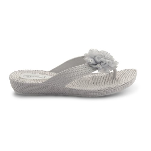 Footwear Sensation , Damen Dusch- & Badeschuhe Schwarz schwarz Silber