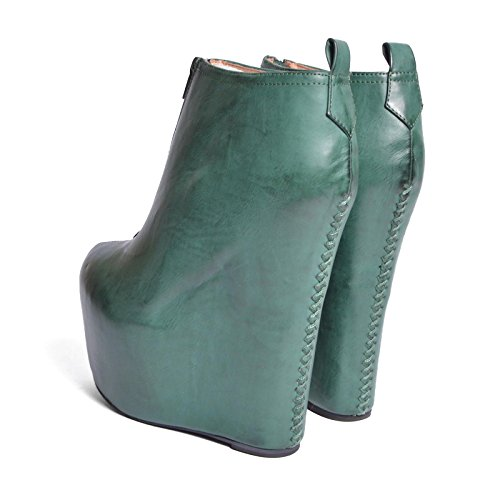 Jeffrey Campbell scarpe 99TWO LEATHER FOREST GREEN Verde