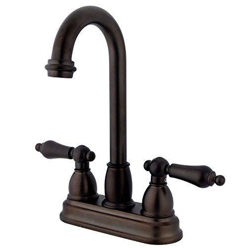 Kingston Brass KB3495AL Restoration Bar Faucet, 3-3/4-Inch, Oil Rubbed Bronze by Kingston Brass