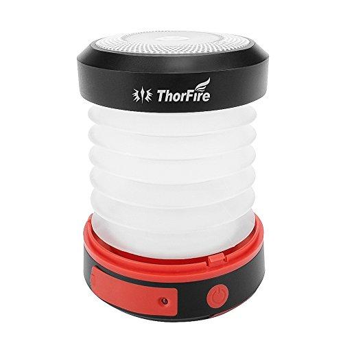 ThorFire CL04 Solar-LED 1800 mAh Camping Laterne mit SOS und USB Mini-Powerbank Funktion