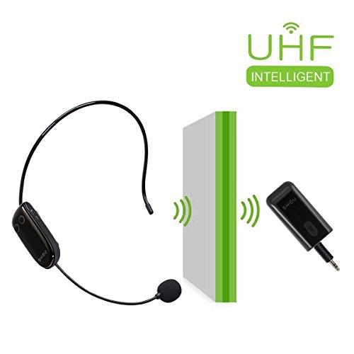 184/5000 Auricolare per microfono wireless UHF Auricolare da parete super-potente con microfono palmare 2 in 1 per amplificatore vocale, PC, altoparlante, perfetto per performance dal vivo