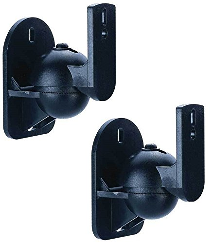 Lautsprecherhalterung Wandhalterung Wand Halter Speaker Boxen Paar für Lautsprecher Soundsysteme HARMAN KARDON BOSE JBL HECO TEUFEL LG PANASONIC YAMAHA LOGITECH SAMSUNG CANTON PLUS MX.3 SAMSUNG HT-E4500 SONY BDV-N590 PIONEER HTP-071 Logitech Z103 Z906 Z5500 BOSE COMPANION ACOUSTIMASS AUNA CANTON MOVIE 70 130 160 YAMAHA NS-P110 , MSP3 , NS-P60 PHILIPS HTS3541/12 JBL CONTROL ONE