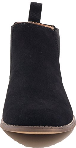 Galax 3115 - Bottines Homme - Bottes Chelsea Doublure Cuir Noir B6