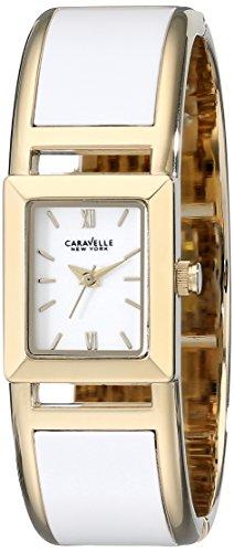 Caravelle 44L143 Men's New York White Dial Gold Steel Bracelet Quartz Watch