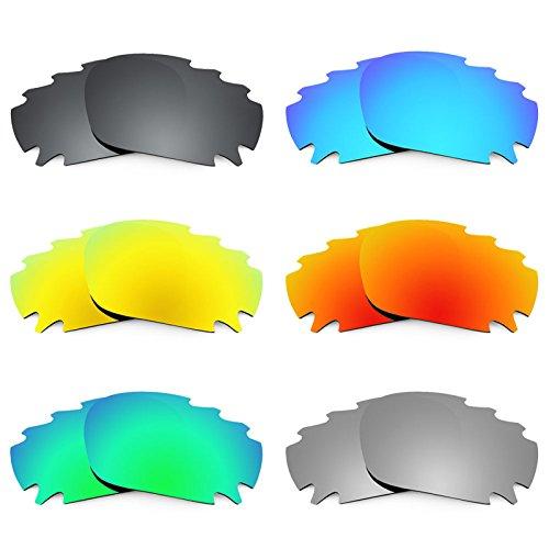 Revant Ersatzlinsen für Oakley Racing Jacket Vented Asian Fit Polarisiert 6 Paar Kombipack K025