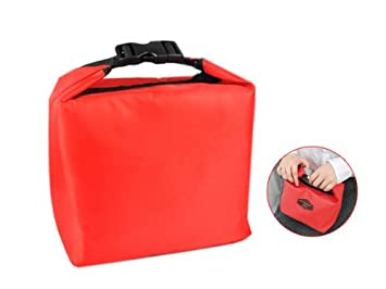 vococal cute useful lunch box pouch insulated cooler bag red - Insulated Cooler Bags