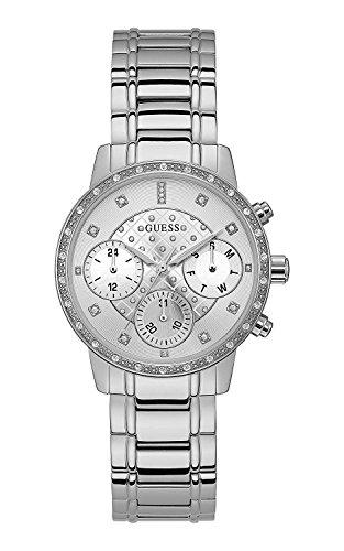 Guess orologio multi-quadrante quarzo donna con cinturino in acciaio inox w1022l1